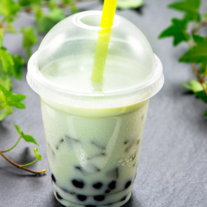 Green-tea boba Drink